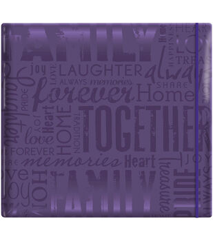 "MBI Gloss Scrapbook 12""X12""-Live Love Laugh-Deep Purple"