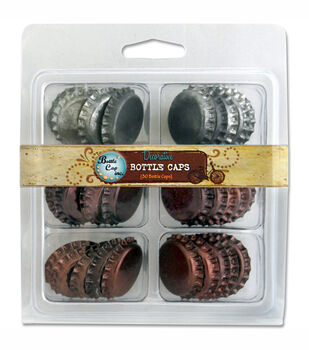 "Vintage Collection Double Sided Bottle Caps 1"" 30/Pkg-Patina"