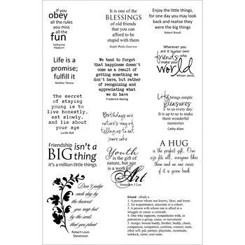 Crafter's Companion Stamp-It Australia Stamp Friendship Sentiments