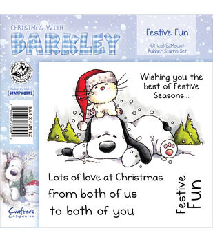 Crafter's Companion Christmas With Barkley Stamp Set Festive Fun
