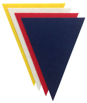 Stiff Felt Banner Pieces - 4 Pack - Triangles - Primary Colors
