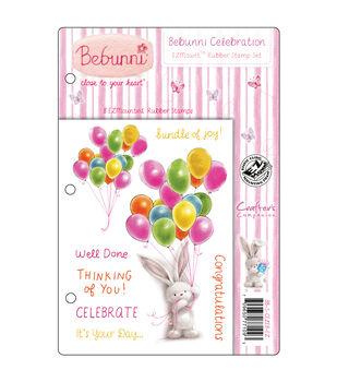 Crafter's Companion Bebunni EZMount Cling Stamp Set Bebunni Celebration