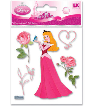 Disney Dimensional Stickers-Sleeping Beauty With Rose