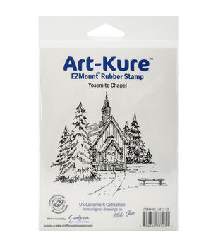 Crafter's Companion Art-Kure Yosemite Chapel EZ Mount Cling Stamp