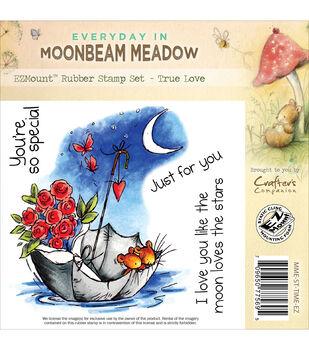 Crafter's Companion Moonbeam Meadow Everyday True Love EZMount Stamp Set
