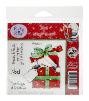 Crafter's Companion Party Paws Noel EZ Mount Stamp Set
