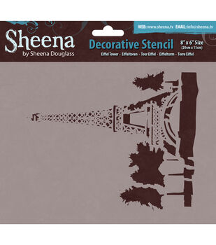 "Sheena Douglass Decorative Stencil 8""X6""-Eiffel Tower"