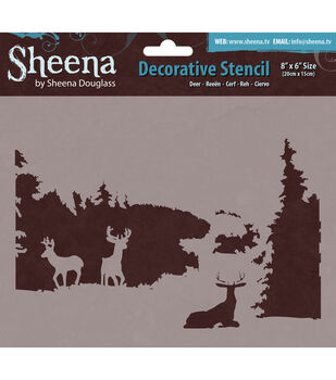 "Sheena Douglass Decorative Stencil 8""X6""-Deer"