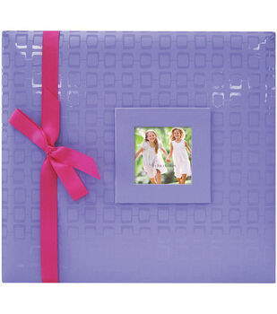 12''x12'' Embossed Postbound Album-Purple