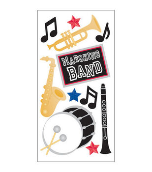 Sandylion Dimensional Stickers-Marching Band