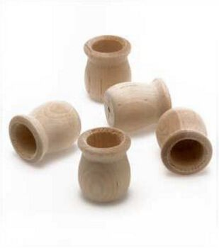 Wood Shapes-Candle Cups