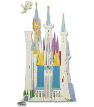 Disney Dimensional Vacation Stickers-Disney Castle