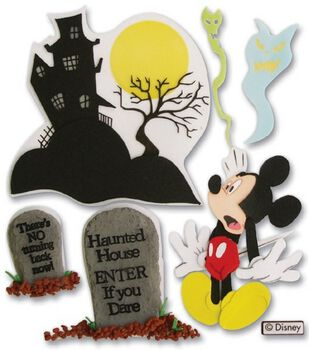 Disney Dimensional Vacation Stickers-Haunted House Mickey