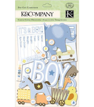 K&Company Cardstock Die-Cuts-Itsy Bitsy Baby Boy
