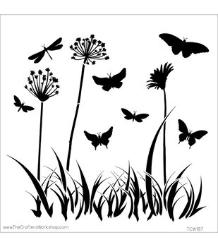 The Crafters Workshop 12''x12'' Template-Butterfly Meadow