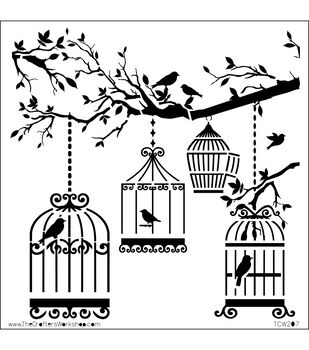 "Crafter's Workshop Templates 6""X6""-Birds Of A Feather"