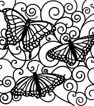 "Crafter's Workshop Templates 6""X6""-Flutterby"