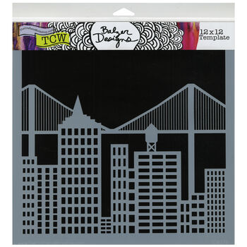 Crafter's Workshop Templates Cityscape 12'' x 12''