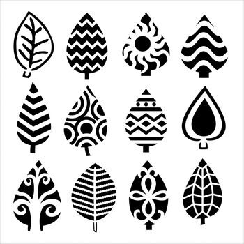 Crafter's Workshop Templates Abstract Leaves