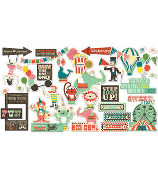 Everyday Circus Die-Cut Cardstock Ephemera
