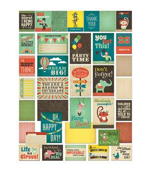 "Everyday Circus Brag Cards 36/Pkg-(12) 4""X6"" & (24) 4""X3"""