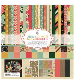 """Fancy Pants Designs Collection Kit 12""""X12""""-Burlap & Bouquets"""