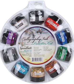 Speedball Calligraphy Ink Palette Kit