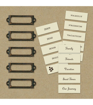 K & Company Label Holders & Labels-20PK/Eco-Modern