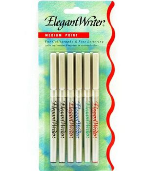 Elegant Writer 6 Pen Medium Carded
