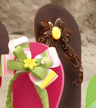 Fine Feathered Flip-Flops