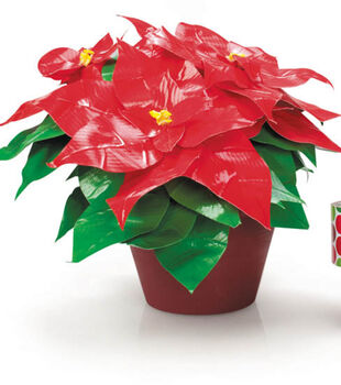 Duck Tape Holiday Poinsettia