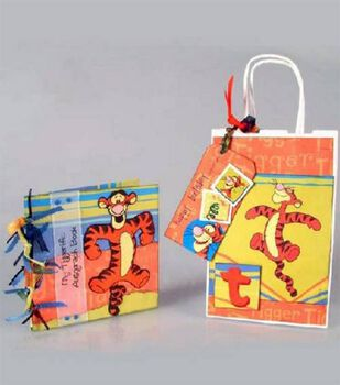 Tiggerific Autograph Book, Gift Bag and Tag