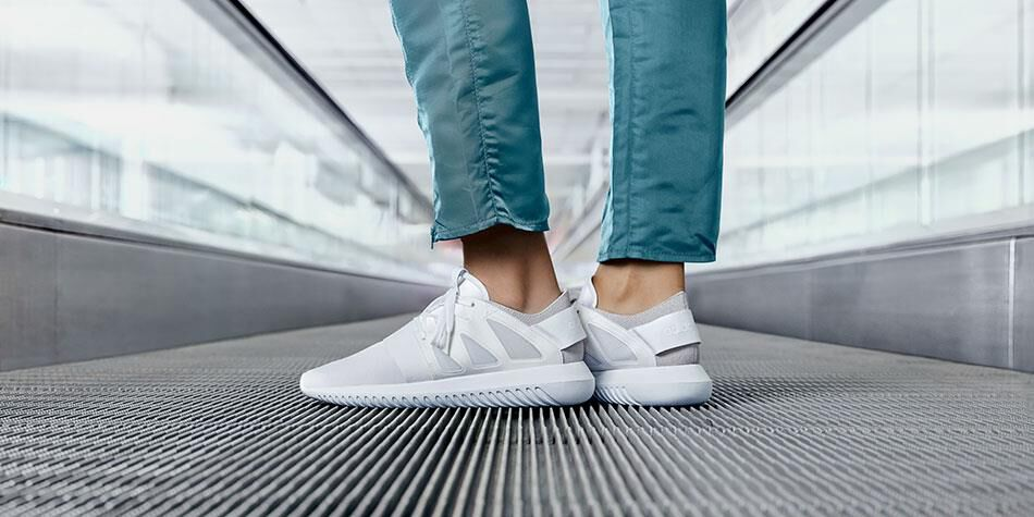 Adidas Tubular Radial Black White On feet Video at Exclucity