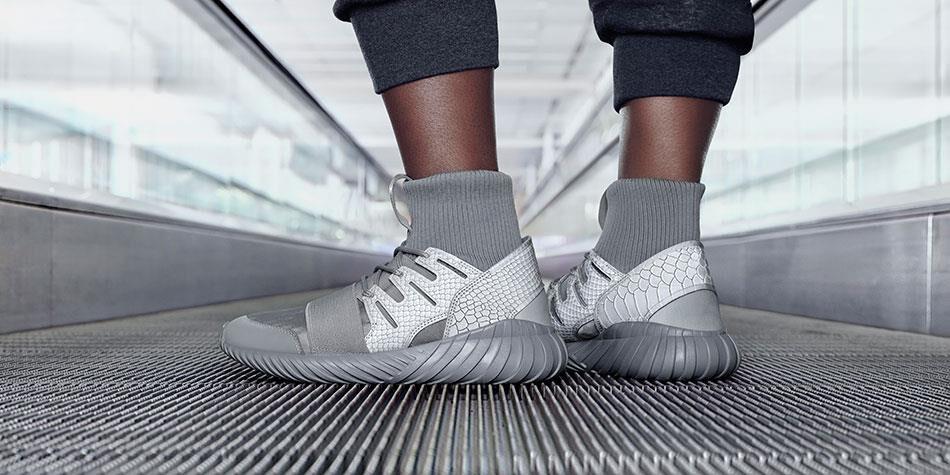 New Year's Savings on Cheap Adidas Tubular Invader Strap Men US 6 Gray