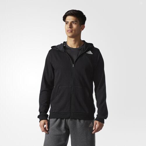 adidas - Cross-Up Hoodie Black / Black BJ9305