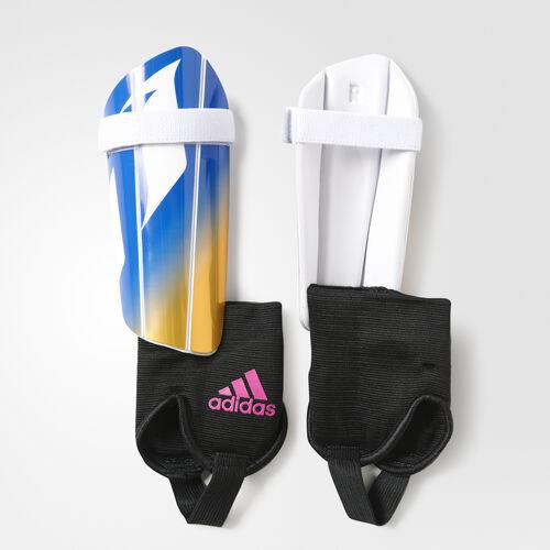 adidas - Tango M Shin Guards White/Blue/Shock Pink/Solar Gold AZ9871