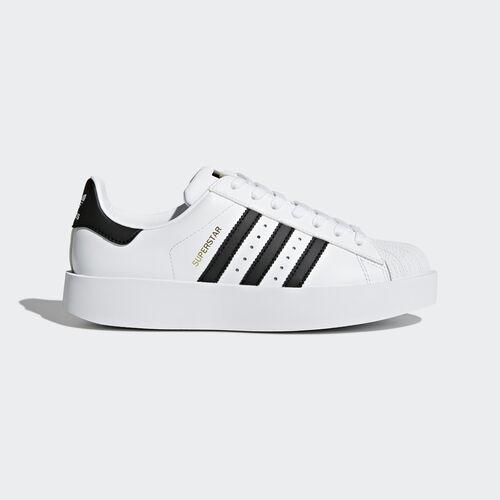 adidas - Superstar Bold Platform Schuh Footwear White/Core Black/Gold Metallic BA7666