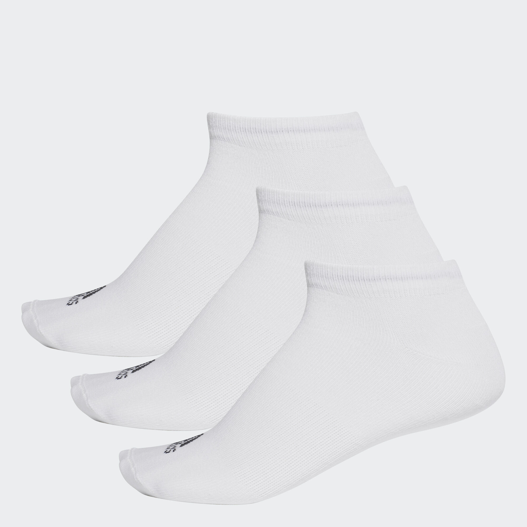 adidas - Performance No-Show Thin Socks 3 Pairs White AA2311