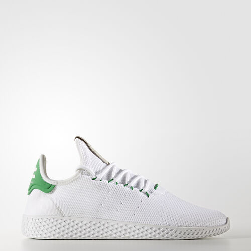 adidas - Pharrell Williams Tennis Hu Primeknit Shoes Ftwr White / Ftwr White / Green BA7828
