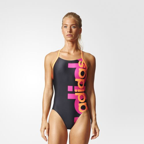 adidas - Essence adidas Swimsuit Black/Glow Orange BP5611