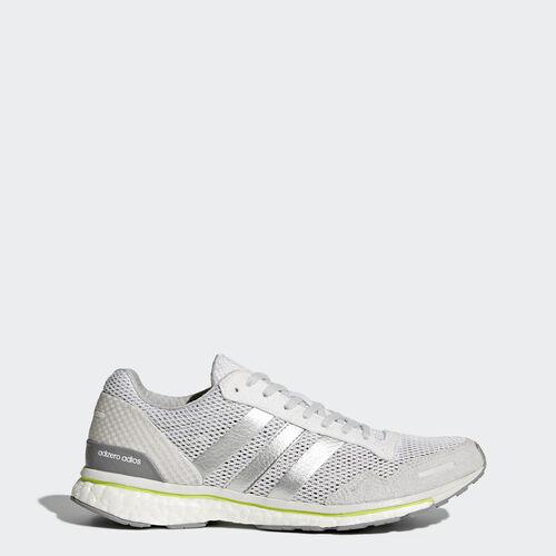 adidas - adizero Adios 3 Schuh Footwear White/Silver Metalic/Solar Yellow BY2782