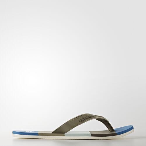 adidas - Chancla Eezay Striped Trace Cargo/Core Blue/Tactile Green BA8809
