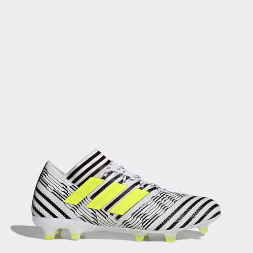 adidas - Nemeziz 17.1 Firm Ground Boots Footwear White/Solar Yellow/Core Black BB6075