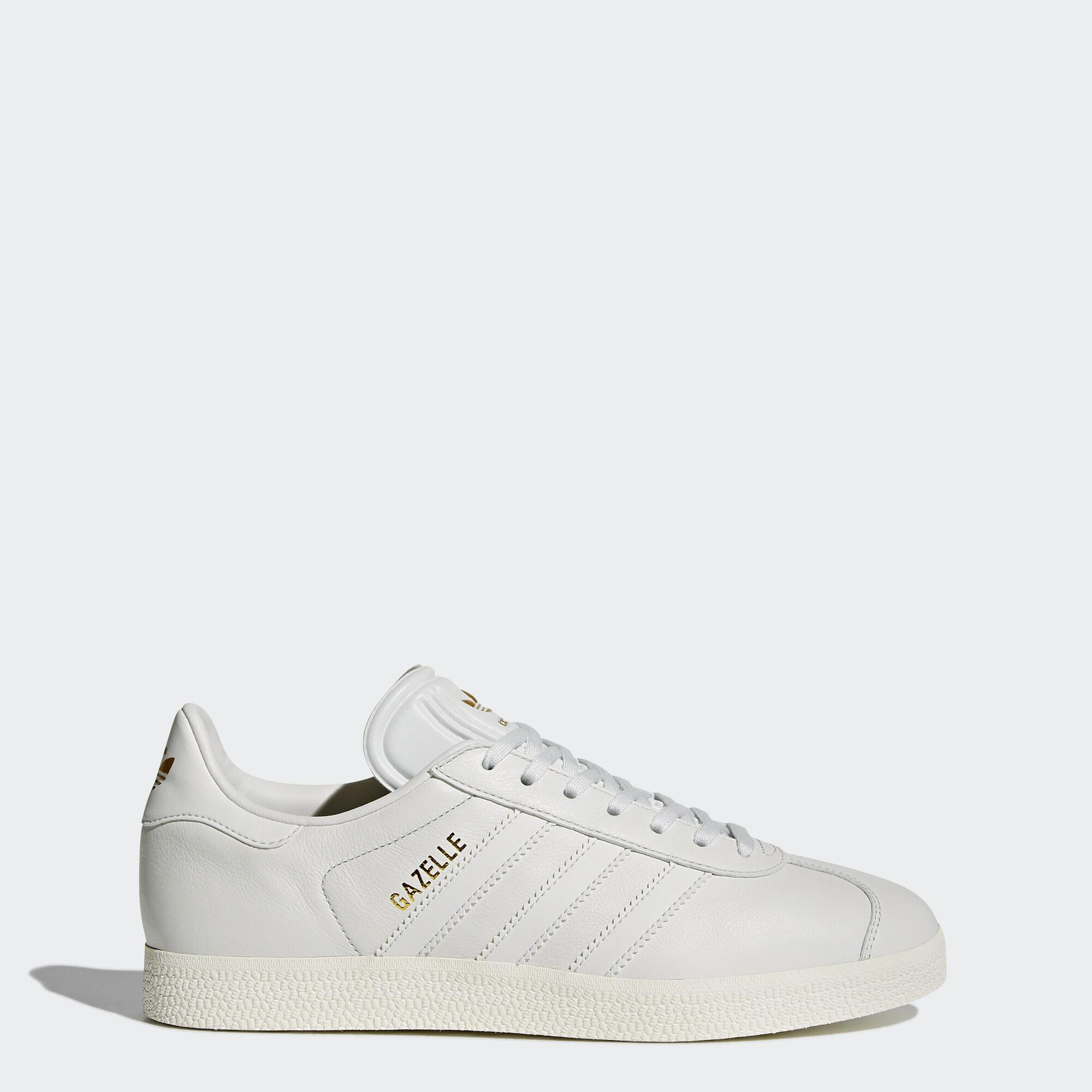 adidas - Gazelle Shoes Crystal White/Crystal White/Gold Metallic BY9354