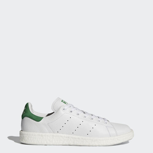 adidas - Stan Smith Boost Shoes Footwear White/Footwear White/Green BZ0528