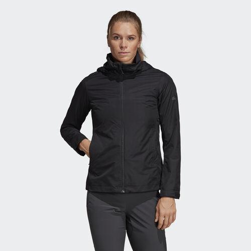 adidas - Womens Wandertag 2Layer Hooded Jacket BLACK AP8713
