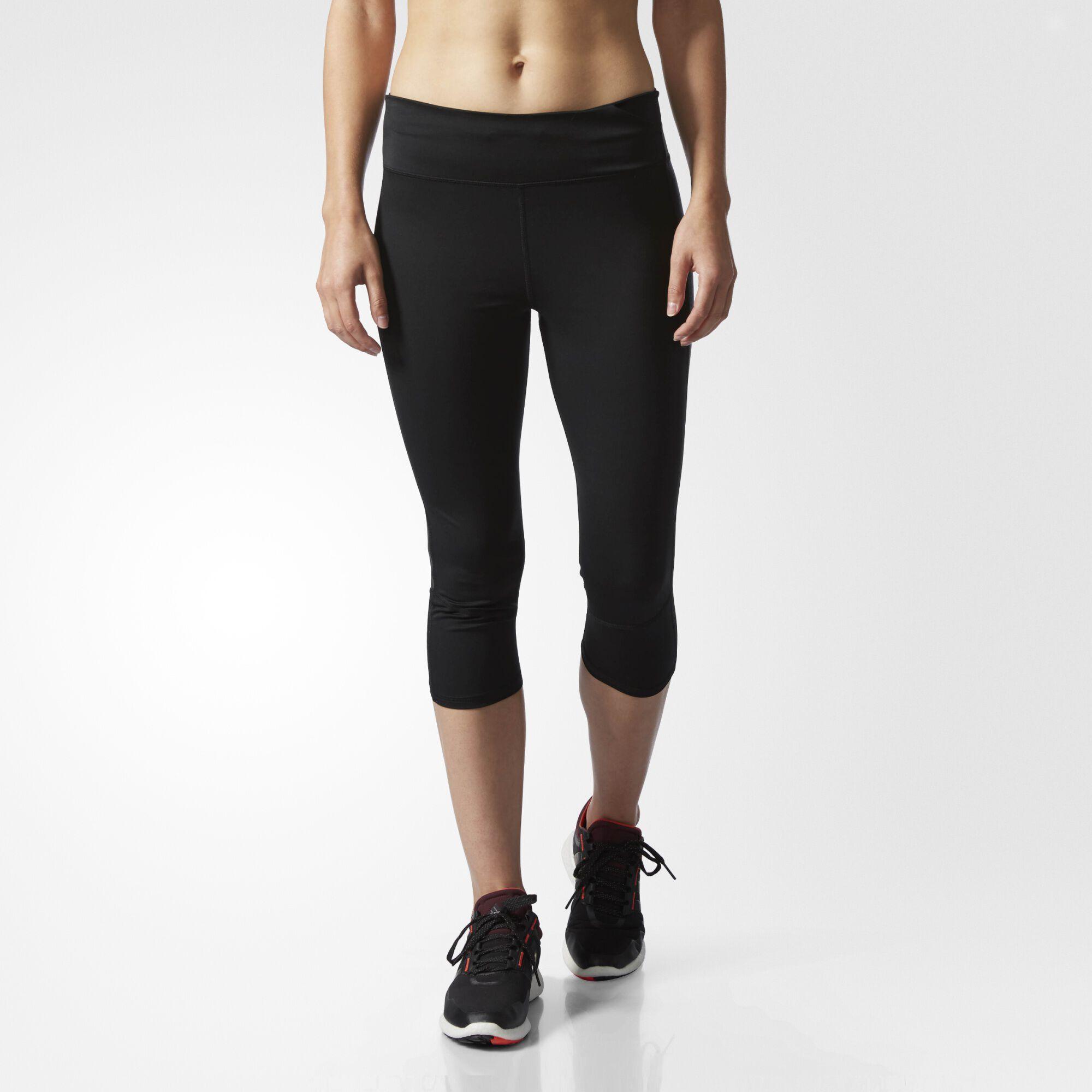 adidas - Supernova Three-Quarter Tights Black S97978. Women Running