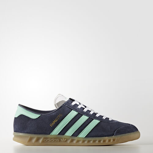 adidas - Hamburg Shoes Midnight Grey/Easy Green/Gum BB5112