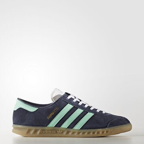 adidas - Tenisky Hamburg Midnight Grey/Easy Green/Gum BB5112
