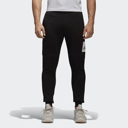 adidas - Essentials Box Logo Pants Black/White B47210